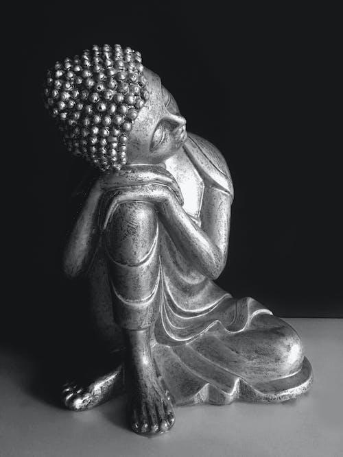 Free stock photo of art, artistic, black and white, buddha
