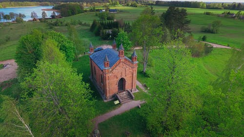 Free stock photo of church, drone cam, drone controller