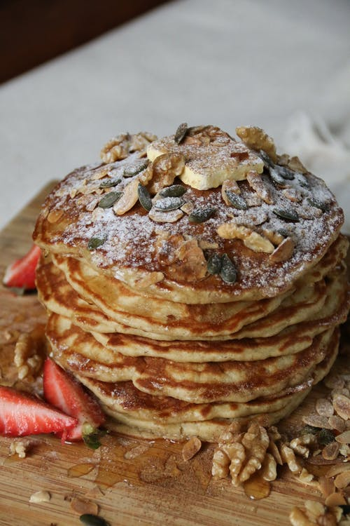 Pancakes with Nuts and Fruits