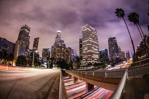 คลังภาพถ่ายฟรี ของ การเปิดรับแสงนาน, ซ้อนเวลา, ตอนเย็น, ตึก