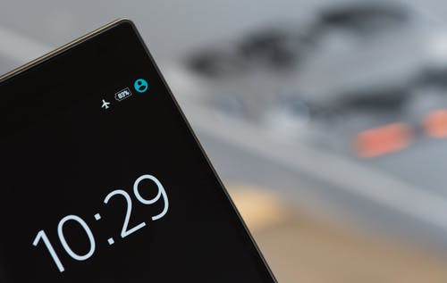 Black Android Smartphone at 10:29