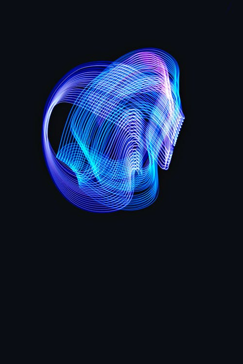 Purple and Blue Light Illustration