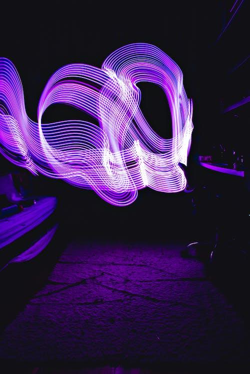 Purple and Pink Light Digital Wallpaper
