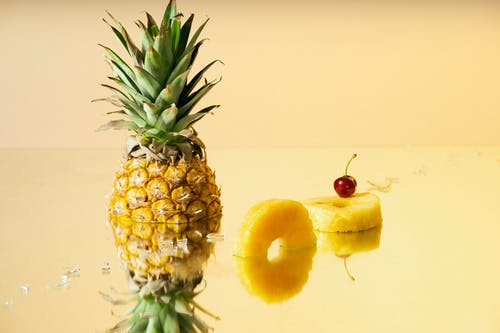 Pineapple Fruit and Yellow Apple Fruit