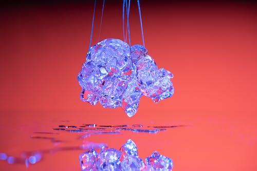 Free stock photo of icecube, mirror, red, simple