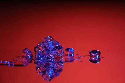 Free stock photo of icecube, melt, modern, red