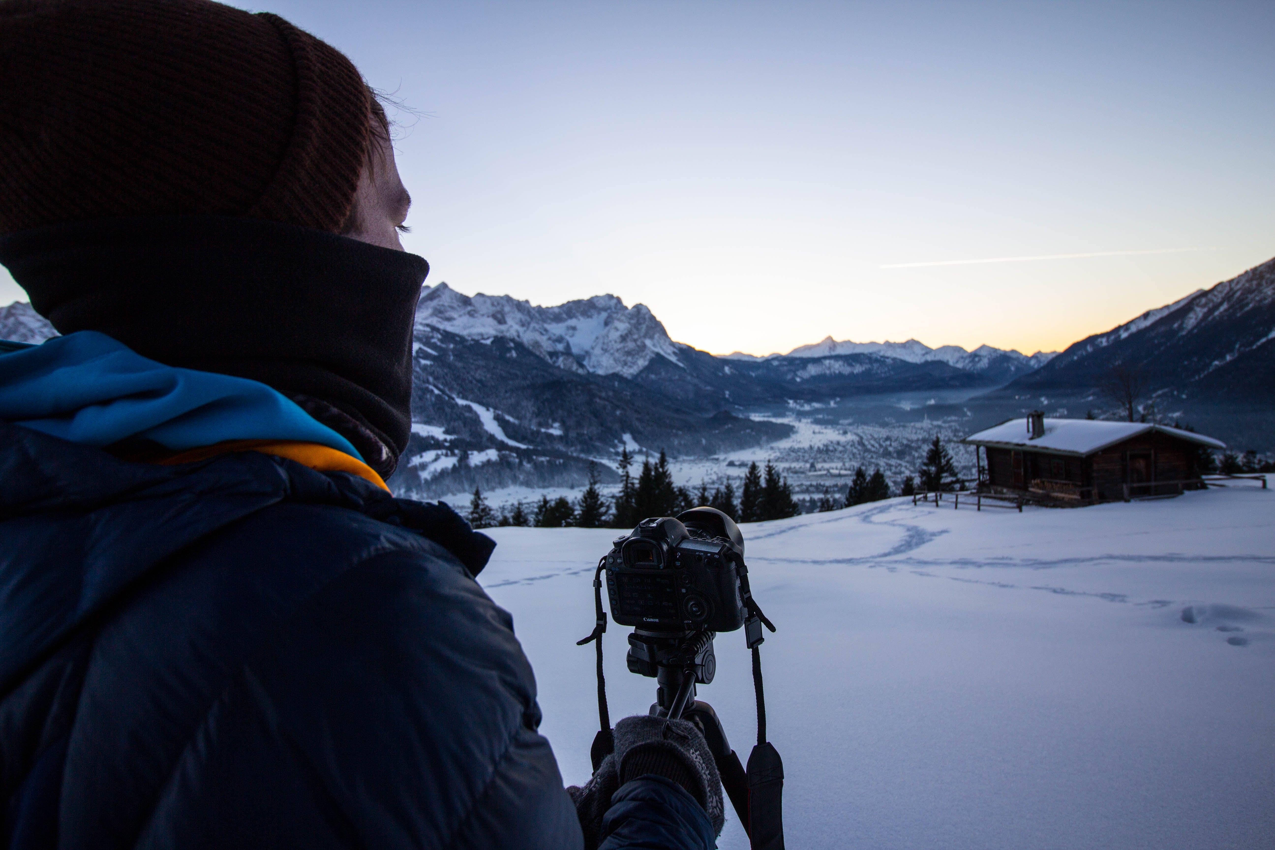 Man Holding Camera Stabilizer