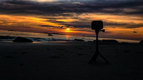 Free stock photo of beach, gopro, sunset