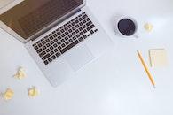 coffee, laptop, pencil