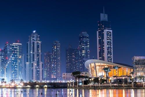 Gratis lagerfoto af arkitektur, belyst, by, byens lys