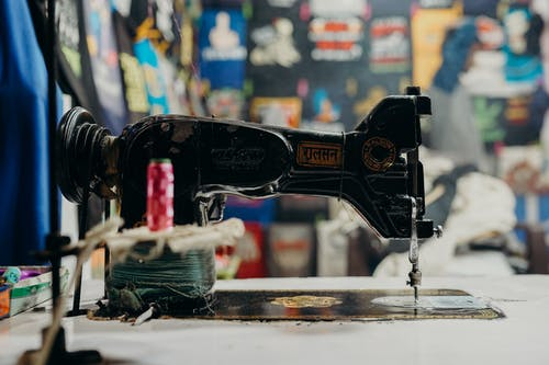 Black and Red Sewing Machine