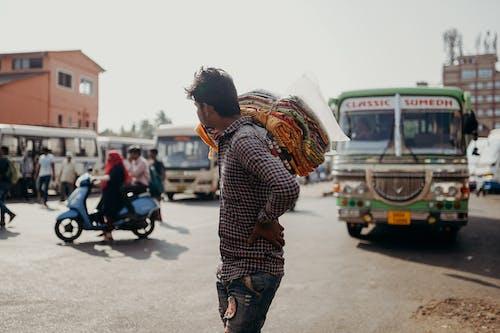 Immagine gratuita di autobus, bazar, commerciante, esterno