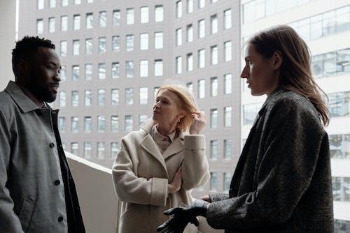 Coworkers Talking Outside