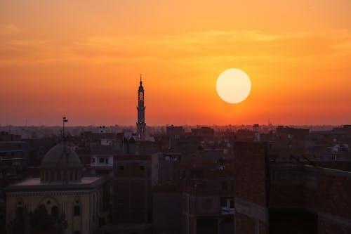 Foto profissional grátis de céu, Egito, laranja