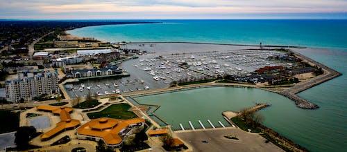 Free stock photo of lake michigan, marina, racine