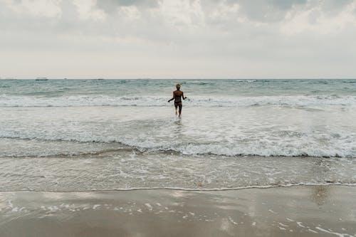 Gratis lagerfoto af en person, goa, hav, Indien