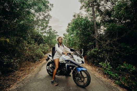 Ride a bike through the jungle