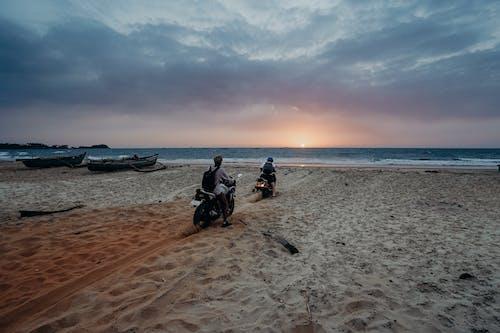 Imagine de stoc gratuită din apus, bicicleta cu motor, cer, faleză
