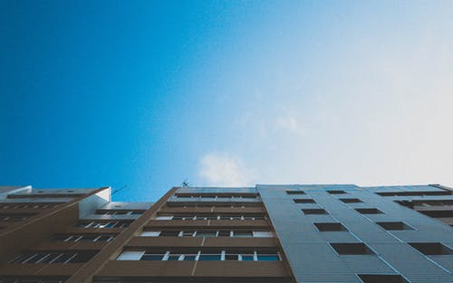 Free stock photo of architecture, blue, blue sky