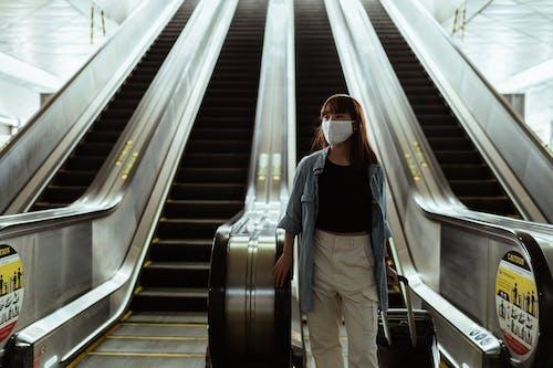 Immagine gratuita di bagagli, camminando, covid 19