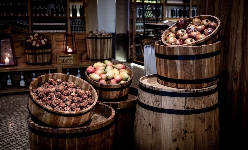 alcohol, bar, barrel