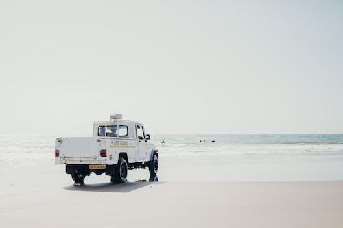 White Truck on Beach