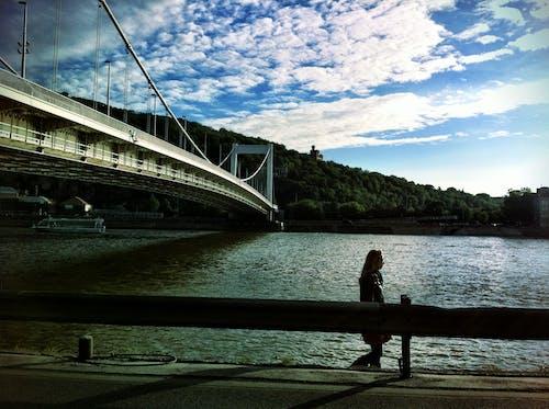 Free stock photo of bridge, Budapest, clouds, danube
