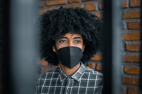 Photo of Person Wearing Black Face Mask