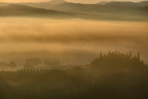 Fotos de stock gratuitas de amanecer dorado, colina, Italia, toscana
