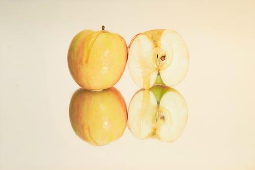 Free stock photo of apple, honey, mirror