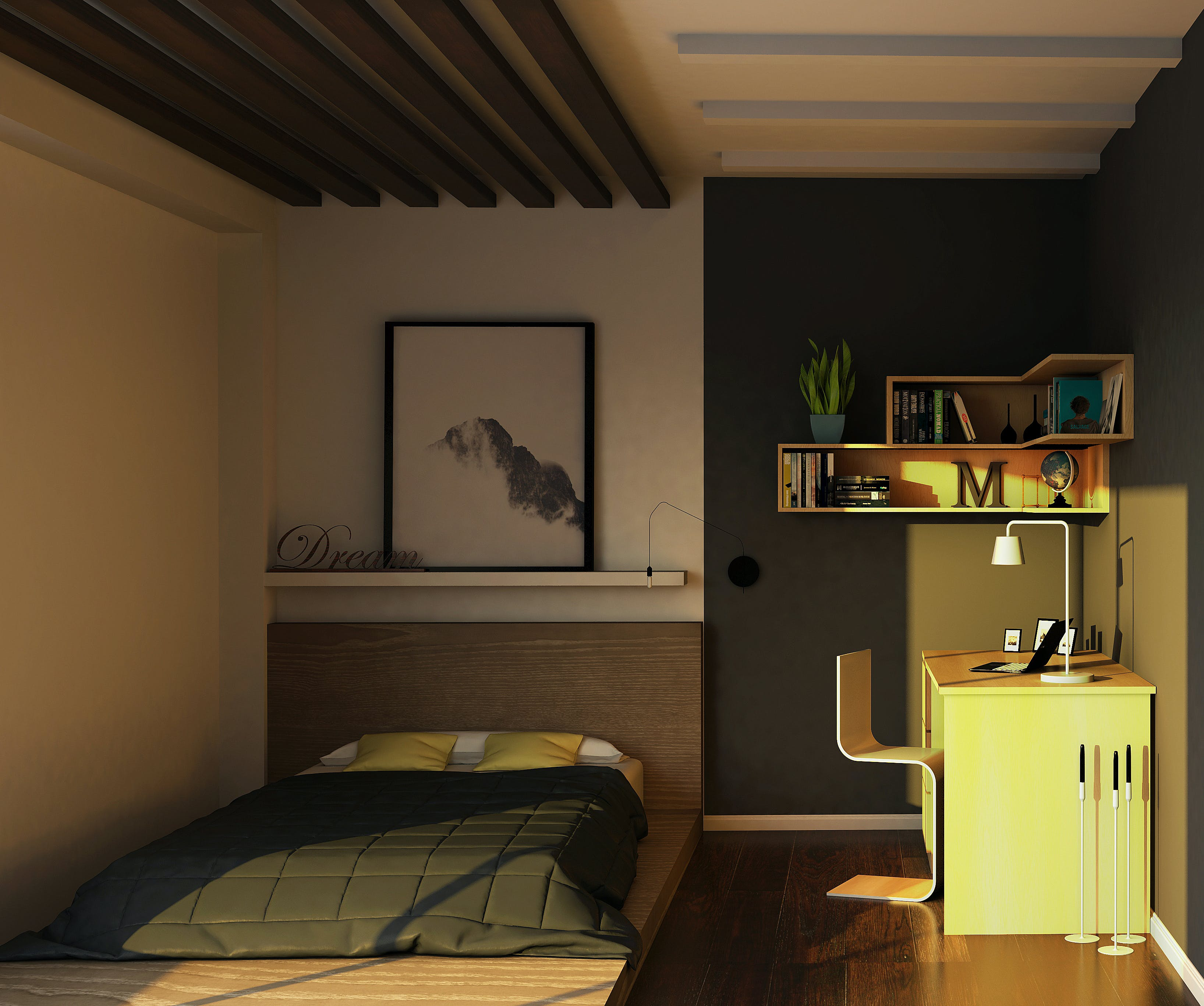 Free stock photo of 3D's Max, architectural design, bed, bedroom