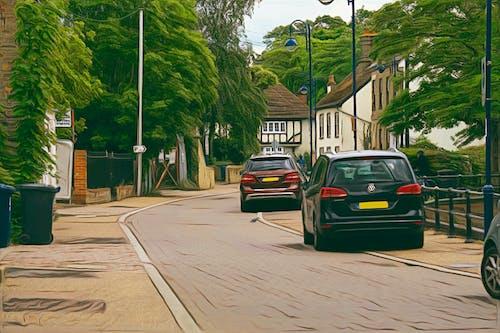 Ingyenes stockfotó autók, cambridgeshire, külvárosi, st neots témában