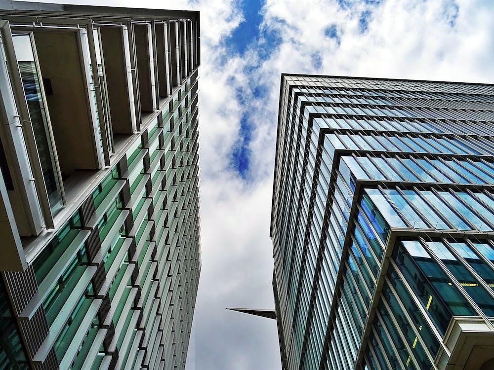 bâtiments, buildings, ciel