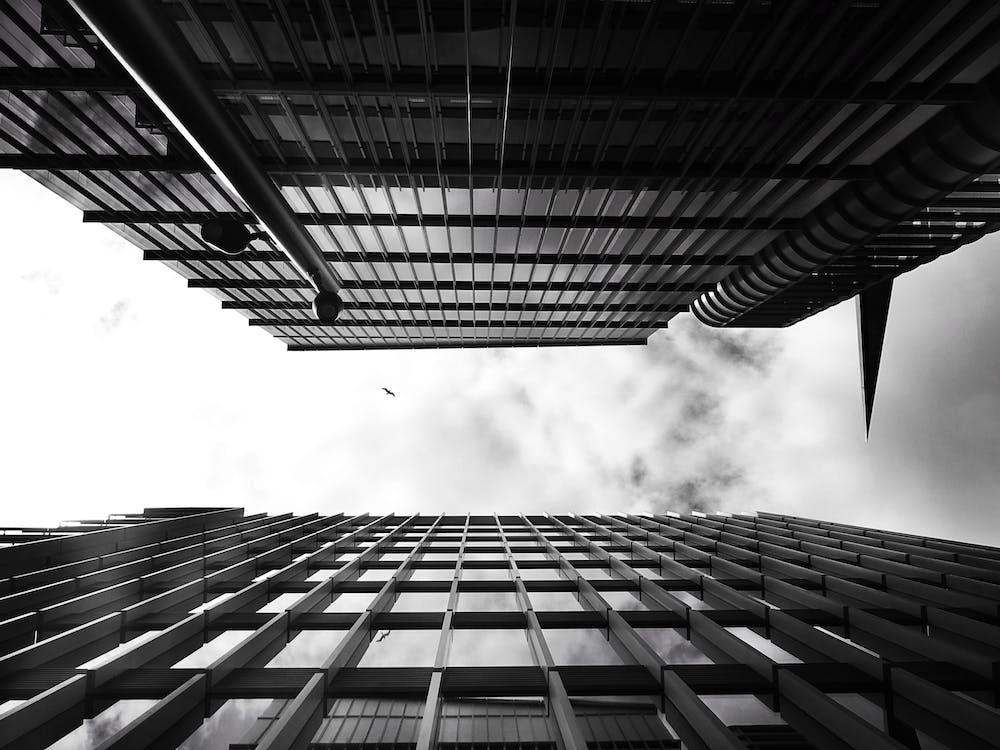 высокий, городской, здания