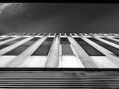 black-and-white, building, skyscraper