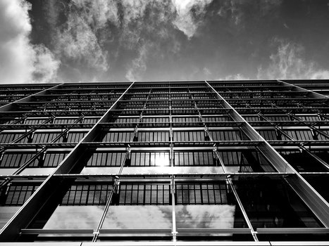Free stock photo of clouds, building, glass, architecture