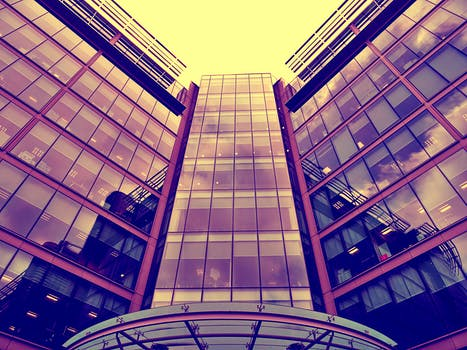 Low Angle View Of Office Building Against Sky 183 Free Stock