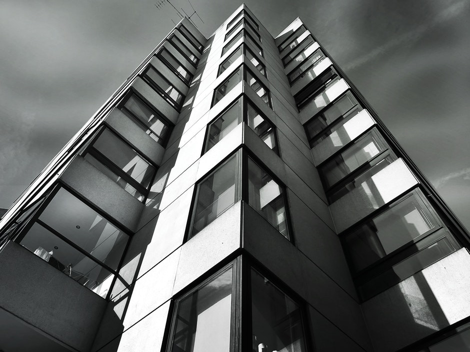 architectural design, architecture, black and white