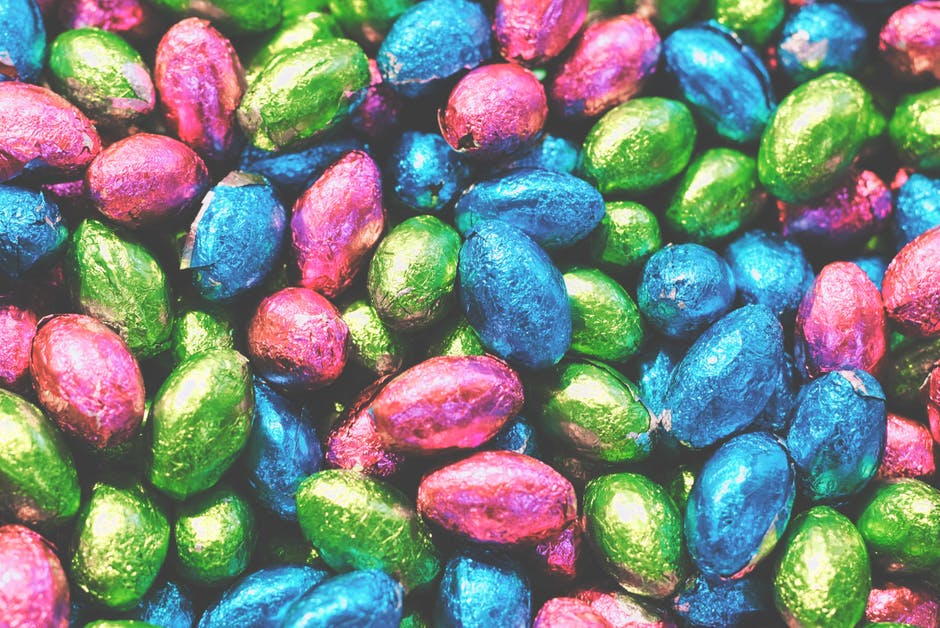 Bright candies chocolate close up
