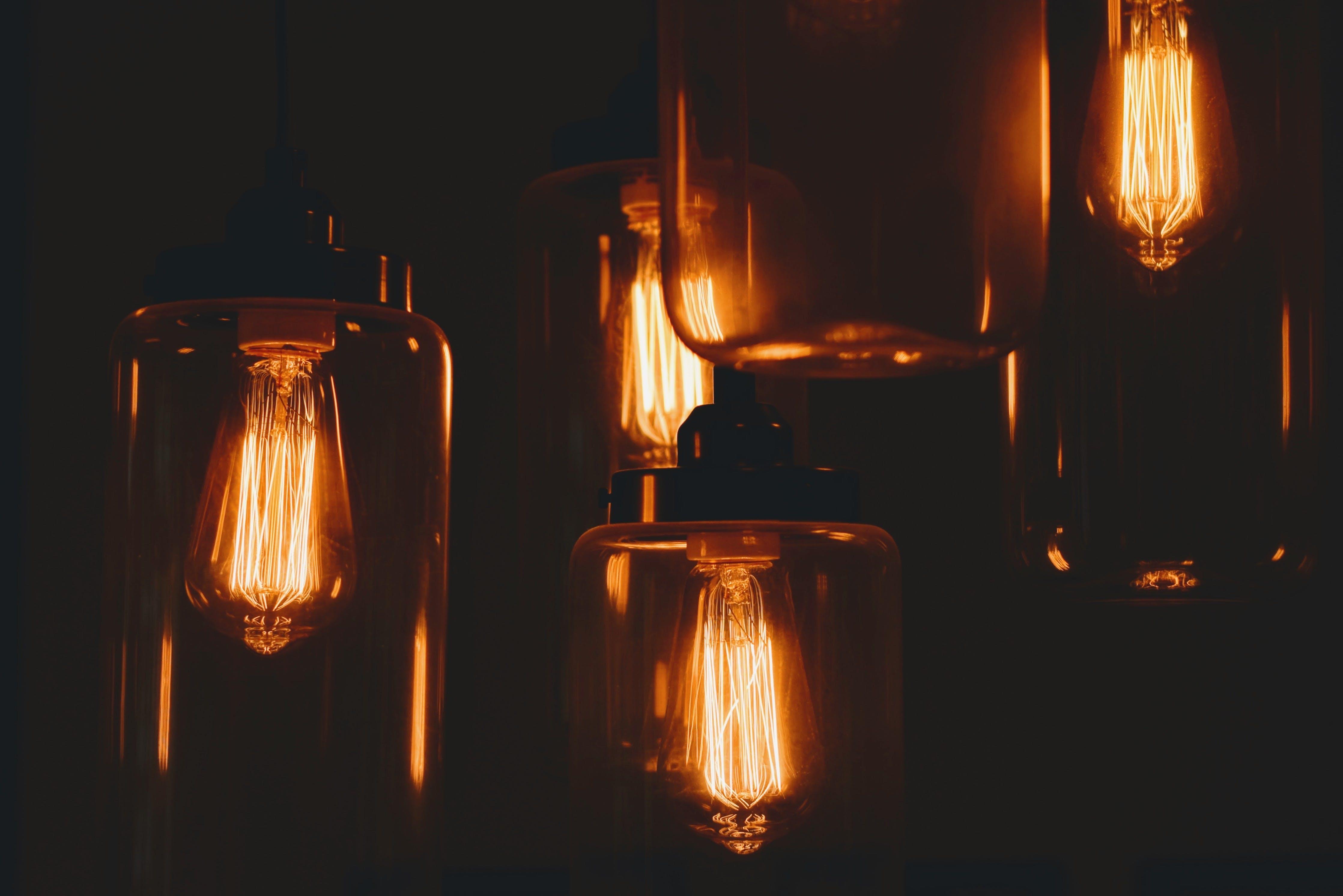 Turned-on Orange Lights