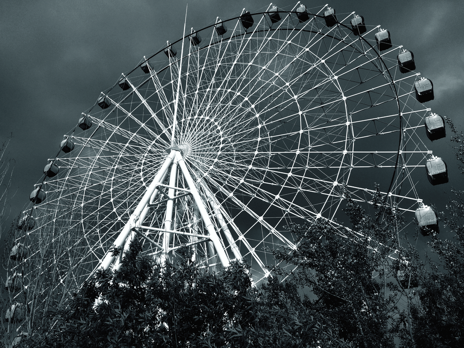 amusement park, attraction, big