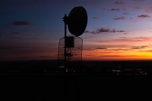 Free stock photo of antenna, evening sun, landscape