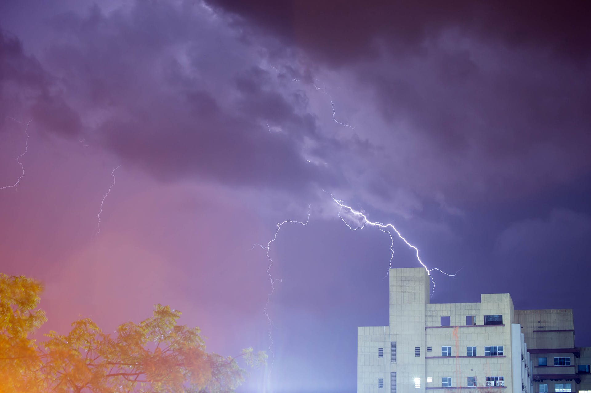 Free stock photo of evening, lightning, nature, night