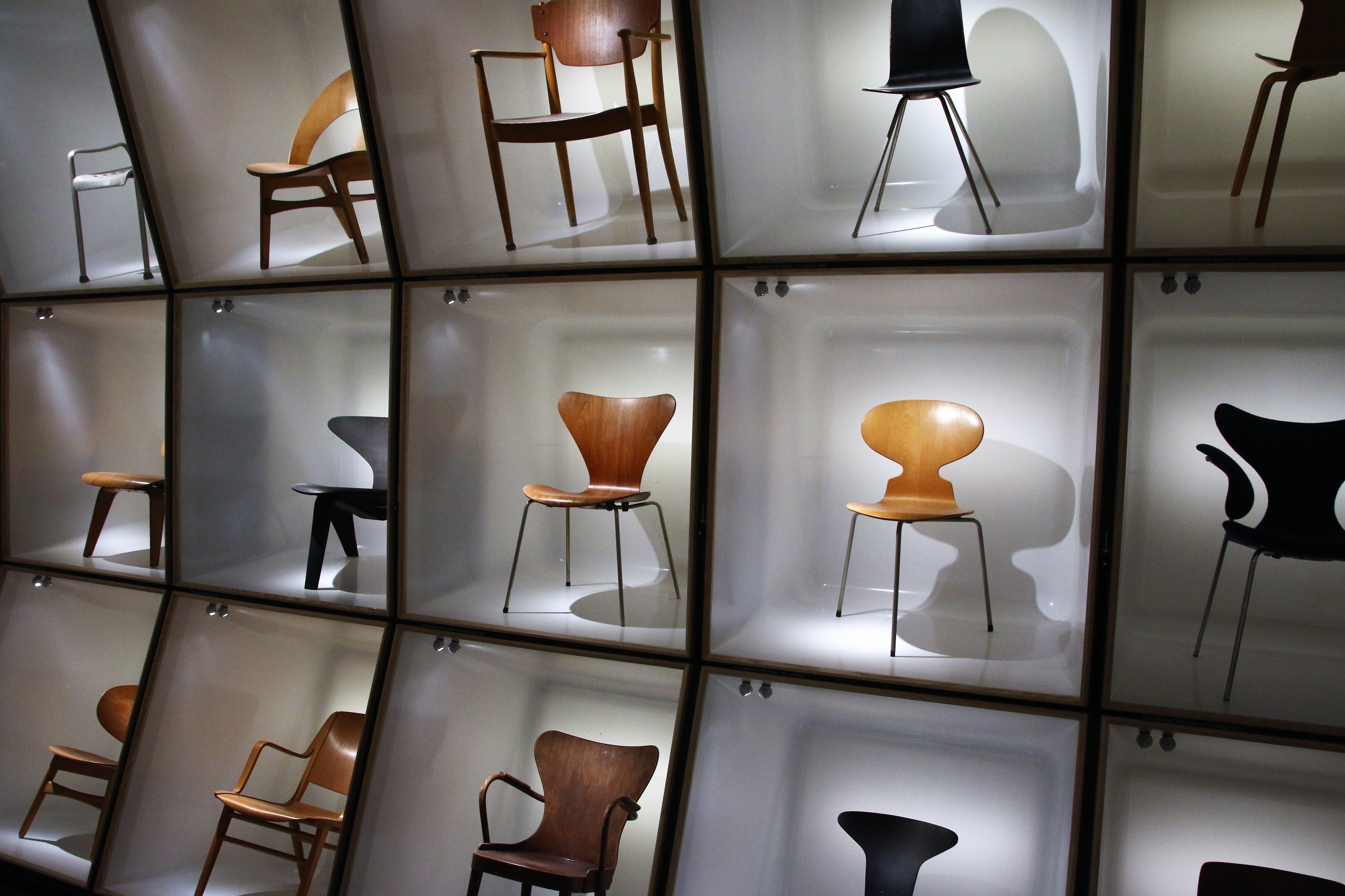 Free stock photo of wood, art, display, chairs