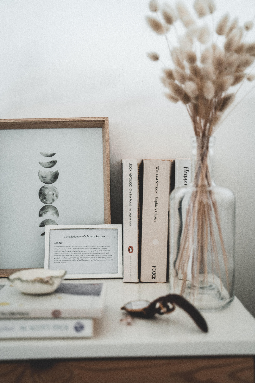 White Book Page On White Table Free Stock Photo