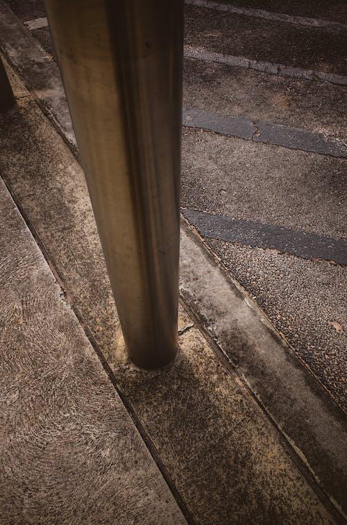 Free stock photo of bollard, concrete, steel, street