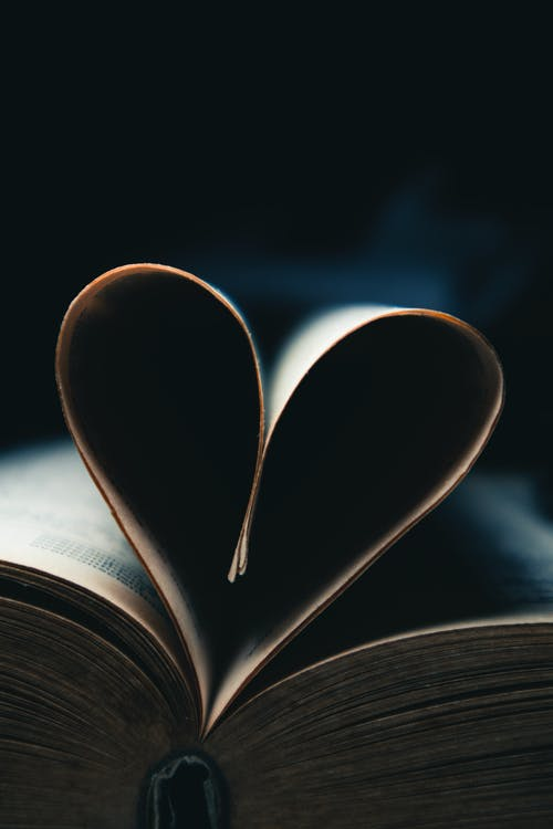 Pages Folded into Heart