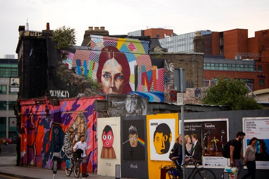 Free stock photo of city, people, art, sidewalk