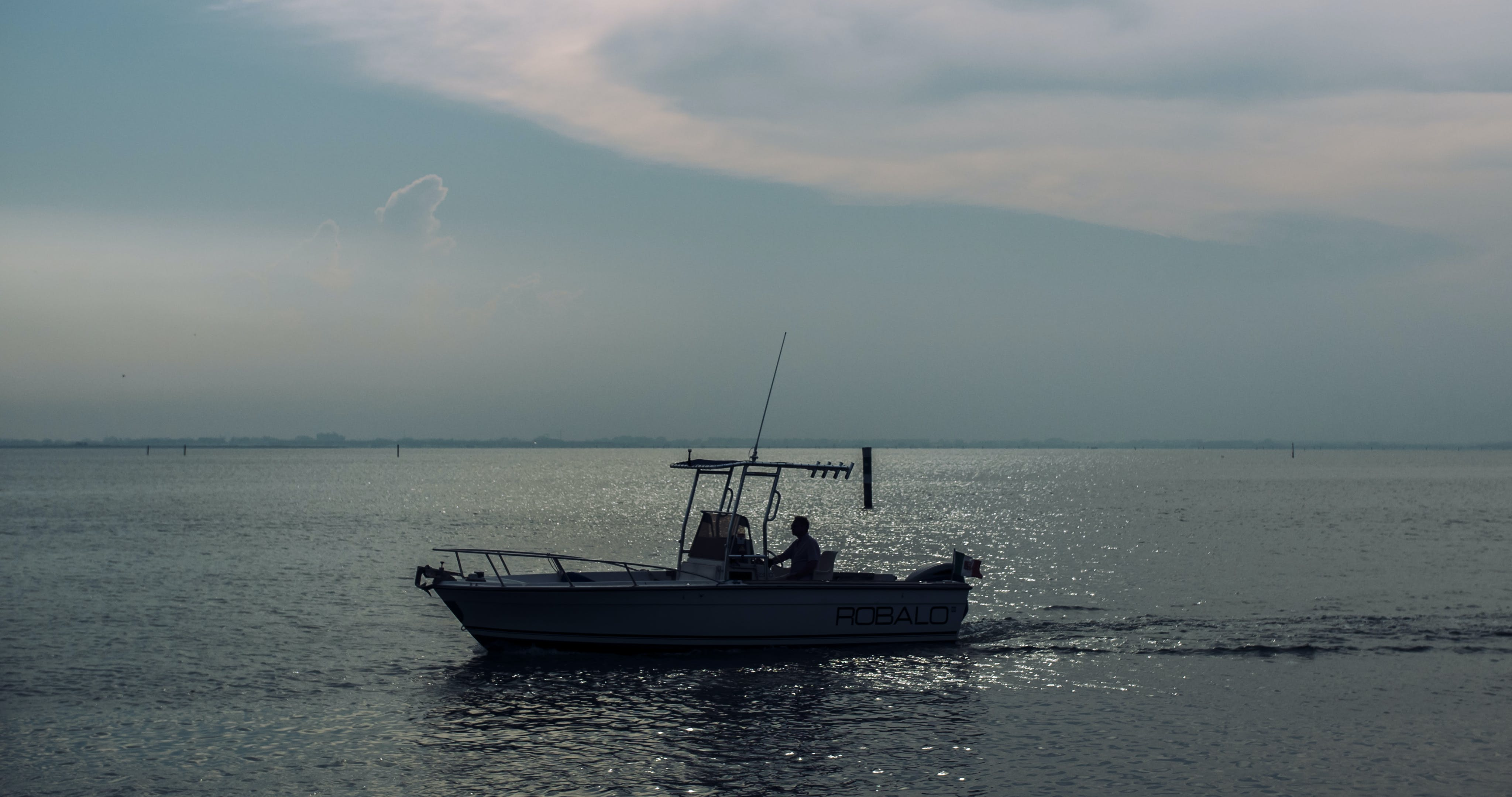 Free stock photo of sea, boat, dusk, fishing boat