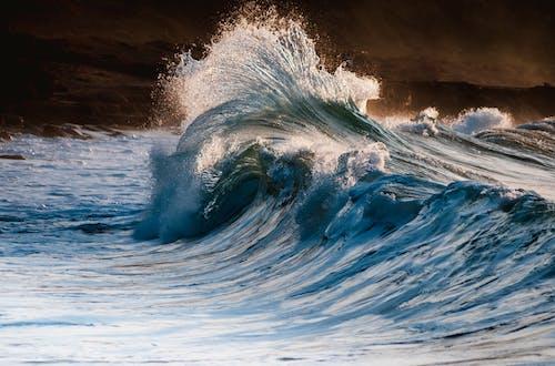 Olas Del Océano Azul